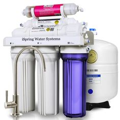 ISPRING 6-Stage Under-Sink Reverse Osmosis Water Filter with Alkaline Remineralization-RCC7AK - The Home Depot