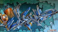 Dens has done it again, creating a blu-ish/metal looking 3D piece, superb detail and reflections.
