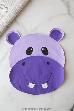 These zoo animal crafts are easy and fun to make! Make a lion, giraffe, hippo or frog with just some newspaper and paint! Hippo Crafts, Zoo Crafts, Monkey Crafts, Animal Art Projects, Animal Crafts For Kids, Craft Projects For Kids, Fun Crafts For Kids, Summer Crafts, Toddler Crafts