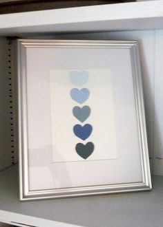 Free Paint Samples and a heart punch... Could do this with most any shape..... Cute!