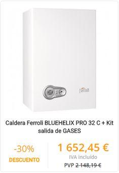CALDERA FERROLI BLUEHELIX PRO 32 C + KIT SALIDA DE GASES