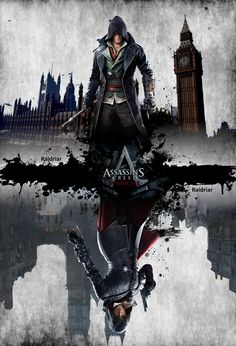ads ads Assassin's Creed Syndicate Poster by on ads Assassin's Creed Hd, All Assassin's Creed, Assassin's Creed Wallpaper, Hacker Wallpaper, Star Citizen, Deutsche Girls, Arte Assassins Creed, Assassins Creed Tattoo, Assassin's Creed Black