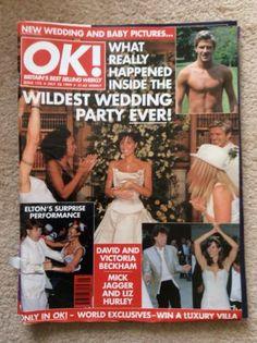 Ok! Magazine Special Edition David and Victoria Beckhams Wedding   eBay