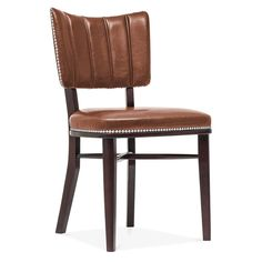 Cult Living Winston Chair in Brown With Silver Studs | Cult UK