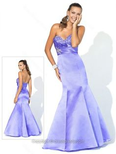 Trumpet/Mermaid Sweetheart Satin Floor-length Sleeveless Beading Prom Dresses