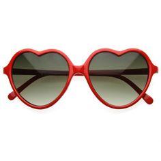 Large Thin Cute Womens Heart Shape Fashion Sunglasses 8468 from zeroUV Heart Shaped Glasses, Heart Glasses, Eye Glasses, Red Sunglasses, Sunglasses Outlet, Summer Sunglasses, Sunglasses Accessories, Sunnies, Pin Up Girl
