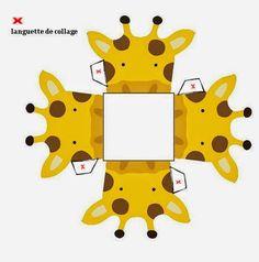 Giraffe Printable Box