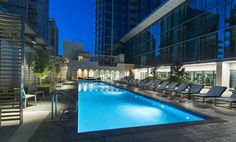 contemporary apartment courtyards with pools - Google Search