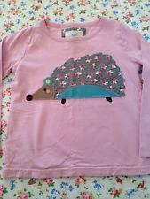 Mini Boden Girl Hedgehog Applique T-shirt Size 4-5 Years