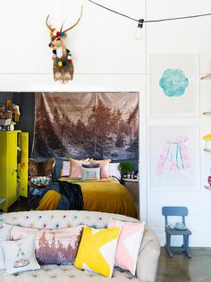 woodsfolk by decor8, via Flickr - baby room inspiration, need to get that couch