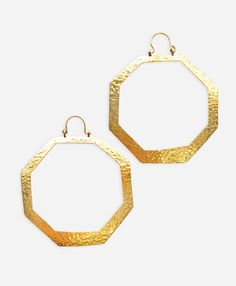 Octagon Hoop Earrings - Noonday Collection