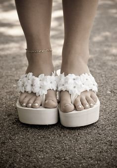Wedding flip flops with some height :)