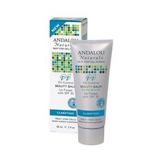Andalou Naturals Clarifying Oil Control Beauty Balm Un-tinted With Spf30 - 2 Fl