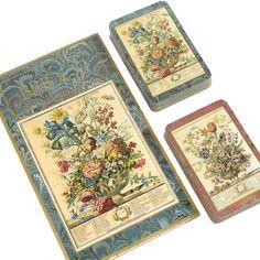 Bridge Playing Cards w/ Scorepad - Bowles Flower Prints - Caspari Playing Cards - Bridge Party Playing Cards by BatnKatArtifacts