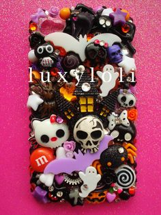 wahh i think this is my favorite Custom Halloween Decoden Phone Case by LUXYLOLI on Etsy