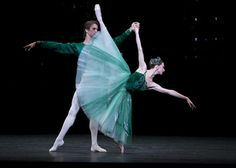 Bolshoi Ballet - Anna Tikhomirova and Karim Abdulin in Balanchine's Emeralds. Photo: Emma Kauldhar