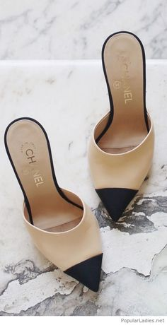 Amazing Chanel shoes on nude and black