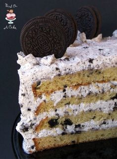 Oreo Cookies and Cream Cake {Bird On A Cake}.  Hey Jen. My Birthday cake?!, :)