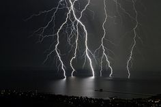 Scientists say that much lightening starts from the ground and goes up to the clouds!