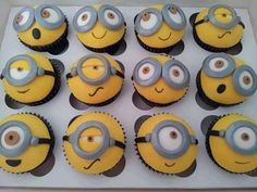 Despicable Me Minion Cupcakes.