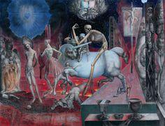Ernst Fuchs- Christus vor Pilatus  Vienna School of Fantastic Realism