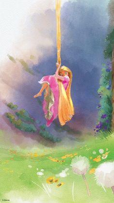 Celebrate the Magic of Storytelling With These Disney and Disney Pixar Phone Wal. Celebrate the Magic of Storytelling With These Disney and Disney Pixar Phone Wallpapers Disney Rapunzel, Disney Pixar, Disney E Dreamworks, Disney Art, Tangled Rapunzel, Princess Rapunzel, Cool Disney, Disney Princesses, Films Disney