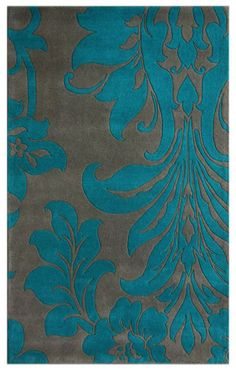 Rugs USA Satara Vittoria Grey Rug.    I would stick with blue for this blue.  If it's true to color. $329 5x8 Eesh.