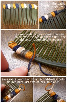 DIY hair comb Tutorial