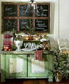 Lovely festive setting - my ideal home...