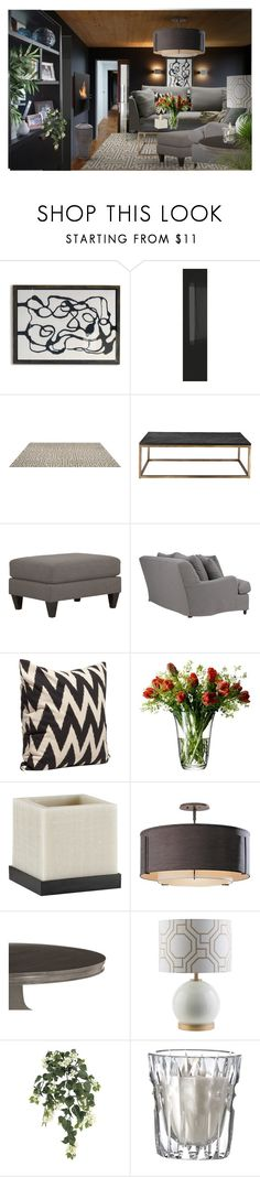 """""""Family Room - for Mckenzie"""" by tanyaf1 ❤ liked on Polyvore featuring interior, interiors, interior design, home, home decor, interior decorating, DwellStudio, Universal Lighting and Decor, Safretti and H&M"""