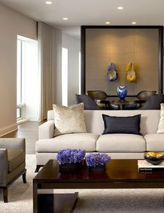 Formal living room ideas - Official salons are usually smaller than the main living space or family room and closer to the front door. Formal Living Rooms, Living Room Sets, Living Room Designs, Modern Living, Small Living, Living Spaces, Moderne Couch, Modern Room Design, Room Interior
