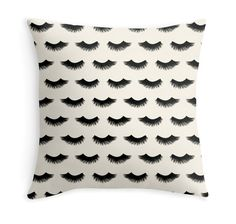 Items similar to Eyelashes - Lashes - Lush - Pattern - Black and white - Decor Pillow on Etsy Makeup Pouch, Makeup Case, Lash Room, Large Cosmetic Bag, Makeup For Moms, White Decorative Pillows, Custom Bags, Lush, Eyelashes