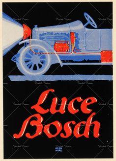 """PG029 """"Bosch Licht"""" poster by Lucian Bernhard (1913)"""