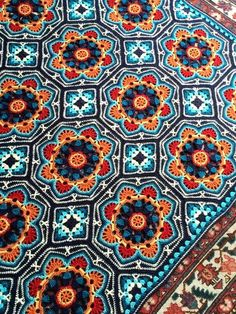Crochet Patterns: Crochet Pattern Of Amazing Blanket - Persian Tile