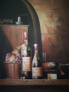 Night at the Winery - PREMIUM - 36 x 48 in. by M. Lupist