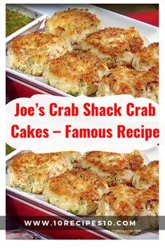 Joe's Crab Shack Crab Cakes – Famous Recipe – - Fish recipes and Seafood Recipes - French Crab Cake Recipes, Fish Recipes, Seafood Recipes, Crab Cakes Recipe Best, Homemade Crab Cakes, Recipies, Game Recipes, Cajun Recipes, Crab Dishes