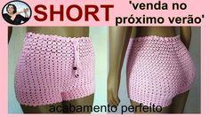 maxresdefault Crochet Bikini Pattern, Swimsuit Pattern, Crochet Shorts, Crochet Clothes, Knit Crochet, Crochet Patterns, Como Fazer Short, Short Tejidos, American Girl Crafts