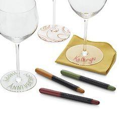 Set of 3 Wine Glass Writers {wineglasswriter.com}