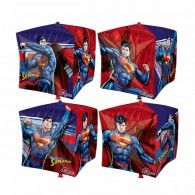 Shape Cubez Superman 38cm x 38cm $19.95 U29020 Wholesale Party Supplies, Printed Balloons, Superman, Shape, Design, Design Comics