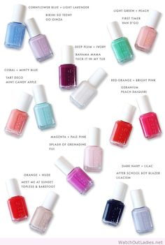 Summer nail polish pairings