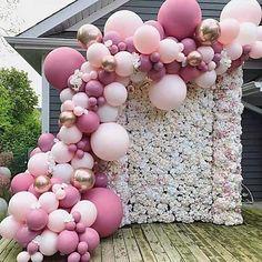 21st Birthday Decorations, Birthday Balloon Decorations, 18th Birthday Party, Diy Wedding Decorations, Birthday Balloons, Baby Shower Decorations, Wedding Favors, Party Wedding, Baby Shower Garland
