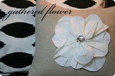 gathered flower {tutorial}