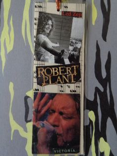 Robert Plant Handmade Collage Bookmark by Pepperland on Etsy