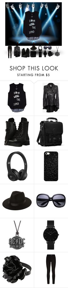 """""""band t's"""" by dreaming24-7 ❤ liked on Polyvore featuring Melissa McCarthy Seven7, Alexander McQueen, Capezio, Beats by Dr. Dre, Lack of Color, AC/DC, CLUSE, Yves Saint Laurent, Paige Denim and plus size clothing"""