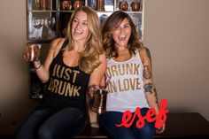just drunk drunk in love bachelorette party tanks by esf apparel | fun bachelorette party ideas | http://emmalinebride.com/planning/fun-bachelorette-party-ideas/
