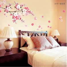 Sakura Wall Stickers Decals Removable Wall Paster Vinyl Decal Home Decor ZCC1*1