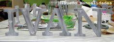 Taller de decoración de letras de madera con pintura vintage, 9/3/2015.  www.misuenyo.com / www.misuenyo.es Washi, Knife Block, Toothbrush Holder, Decoupage, Wood Letters, Mosaics, Atelier, Miniatures, Manualidades