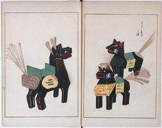 Japanese toy horses (via peacay on Flickr