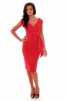 So Couture - Red Hourglass Vintage Pencil dress