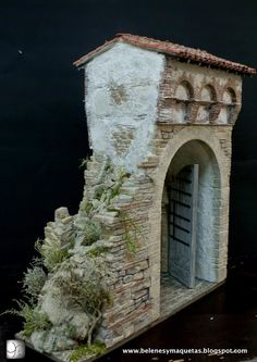 Lola Simon - Craftwork on demand of all kinds of scenes, models, cribs, and custom miniatures Fontanini Nativity, City Illustration, Miniature Houses, Model Trains, Vignettes, Activities For Kids, Medieval, Scenery, Religious Education